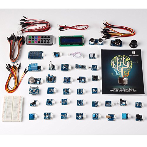SunFounder Ultimate Mega 2560 Sensor Kit V2.0 for Arduino R3 Mega2560 Mega328 Nano - Including 98 Page Instructions Book