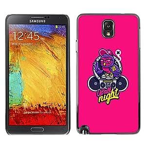 Be Good Phone Accessory // Dura Cáscara cubierta Protectora Caso Carcasa Funda de Protección para Samsung Note 3 N9000 N9002 N9005 // Music Text Graffiti Speaker