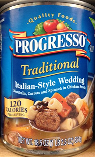 - Progresso Traditional Italian-Style Wedding Soup 18.5oz Can (Pack of 5)