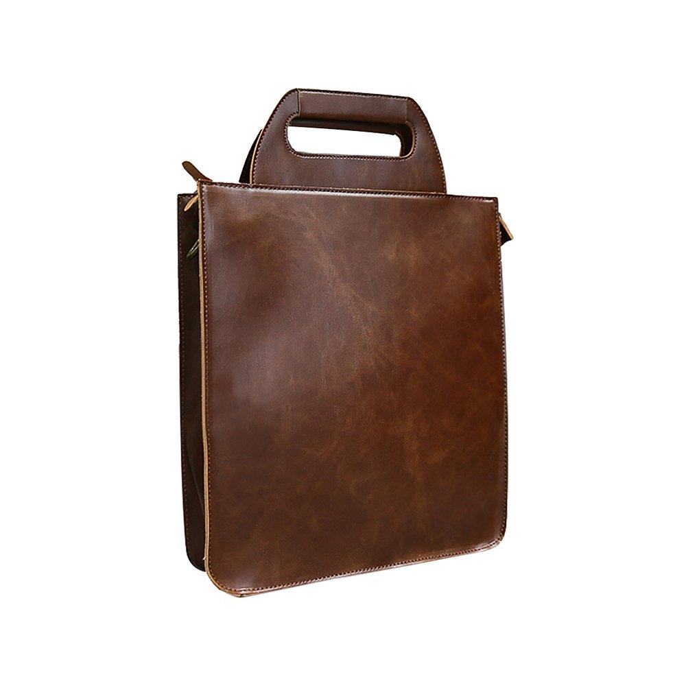 Jia Hu 1Pc Retro Tablet Briefcase Envelope Messenger Bag Lawyer Doctor Document Organizer Coffee