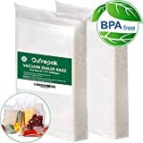 200 Pint Vacuum Sealer Bags 6'' x 10''for Food Saver, Seal a Meal Vac Sealers, Sous Vide Vaccume Safe, Heavy Duty Commercial Grade Pre-Cut Storage Bag.