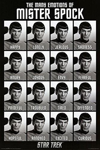 Aquarius Star Trek Emotions of Spock Poster