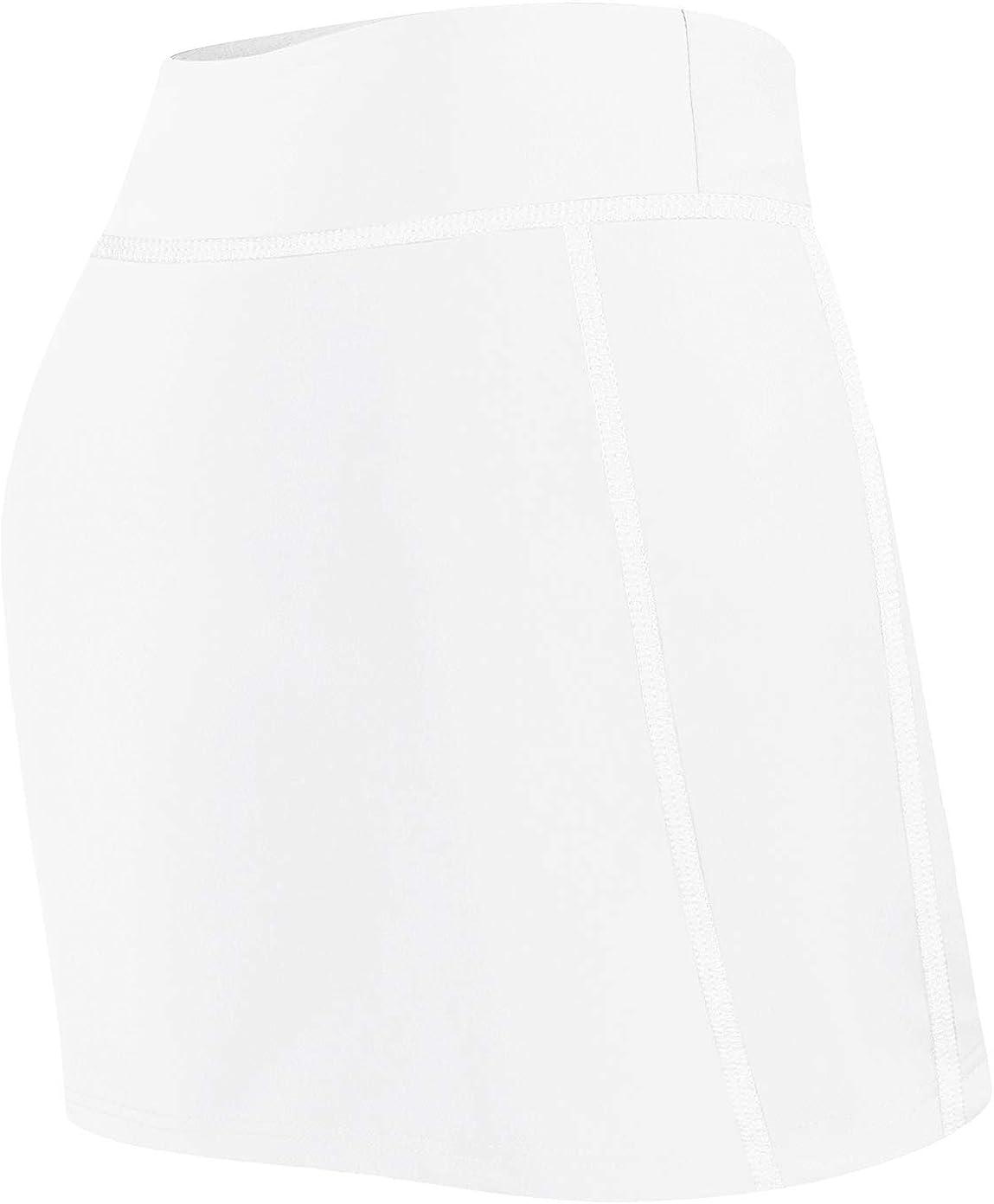 BLEVONH Women Tennis Skirts Inner Shorts Elastic Sports Golf Skorts with Pockets: Clothing