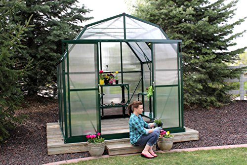Grandio Elite 8×8 Greenhouse Kit – 10mm Twin-Wall Polycarbonate