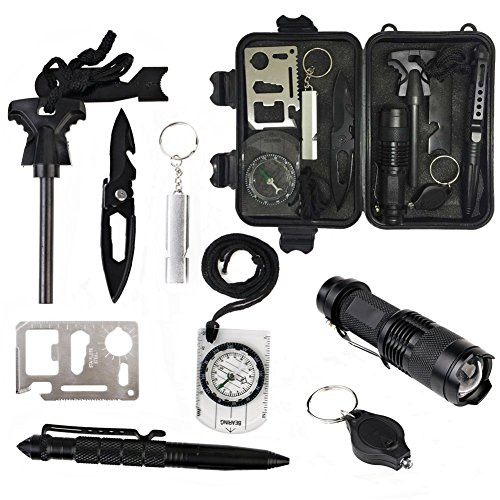 Outdoor-Survival-Tools-10-in-1-Multi-Purpose-Emergency-Survival-kit-Security-Defense-Gear-with-Waterproof-Bag-For-Disaster-Preparedness-Outdoor-Travel-Hike-by-XUANLAN