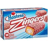 Hostess Raspberry Iced Zingers 10 Pack (1 Box)