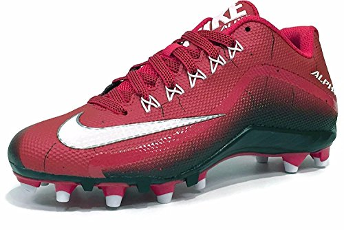 NIKE Men's Alpha Pro 2 Football Cleat (15 D(M) US, Game Red/White/Black)