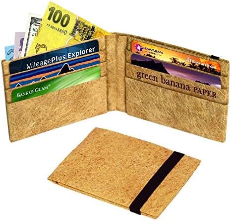 Green Banana Men's Eco-Leather Wallet Bifold