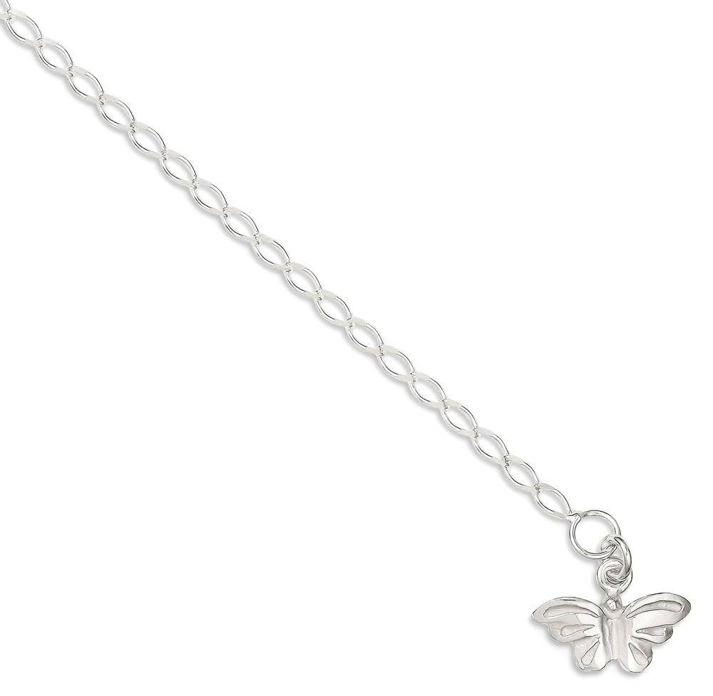 Ankle Bracelet Foot Jewelry Anklet - ICE CARATS 925 Sterling Silver 10 Inch Solid Butterfly Anklet Ankle Beach Chain Bracelet Fine Jewelry Ideal Gifts For Women Gift Set From Heart by ICE CARATS (Image #2)