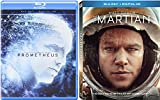 Ridley Scott Blu Ray Surviving Space Double Feature: The Martian (Matt Damon) & Prometheus (Michael Fassbender)