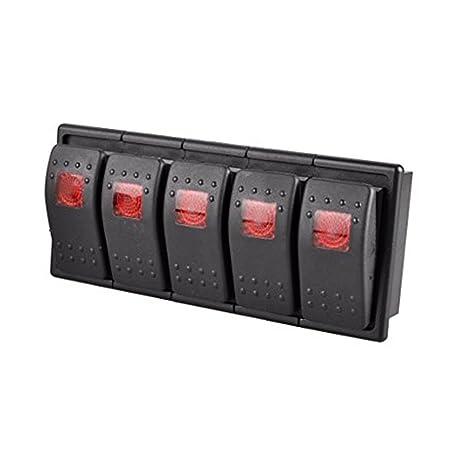 5x Kippschalter 12V //24V 220V 230V Volt 10A EIN AUS ON OFF 2 Polig Auto KFZ Boot