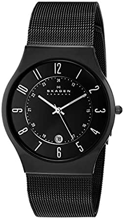 Skagen Men's 233XLTMB Grenen Black Titanium Watch