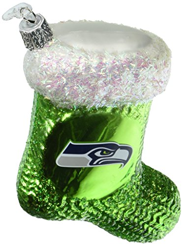 Old World Christmas Glass Blown Ornament Seattle Seahawks ()