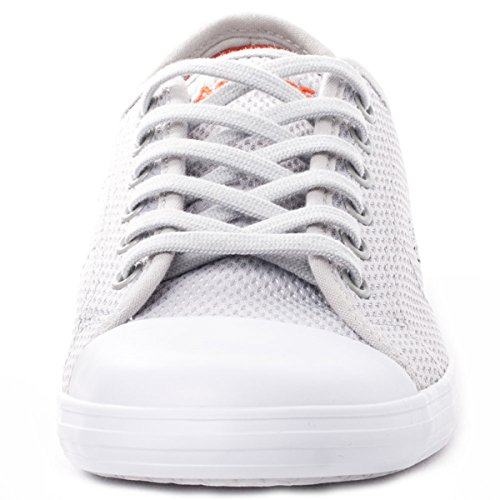 Lacoste Women's Ziane 216 1 Sneaker,Light Grey Textile,US 6.5 M