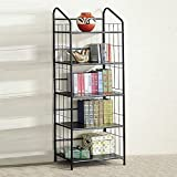Coaster Five Tier Black Metal Bookcase
