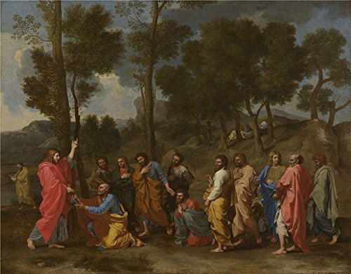 Oil Painting 'Nicolas Poussin Ordination', 24 x 31 inch / 61 x 78 cm , on High Definition HD canvas prints is for Gifts And Garage, Home Theater And Laundry Room Decoration, (Chameleon Pajama Costume)