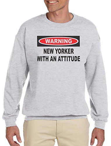 New Yorker With An Attitude Adult Sweatshirt Ash Grey - New Shop Yorker
