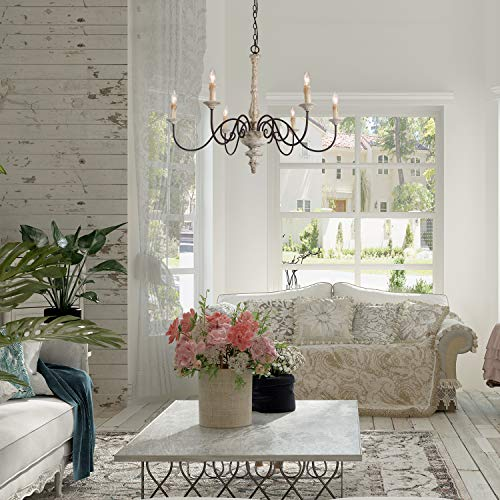 Laluz 6 Light Shabby Chic French Country Chandelier
