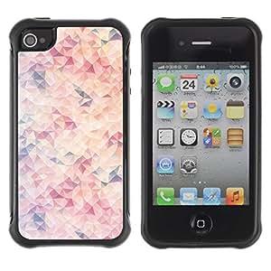 "Hypernova Defender Series TPU protection Cas Case Coque pour Apple iPhone 4 / iPhone 4S [Púrpura Naranja Rosa Sun abstracto""]"