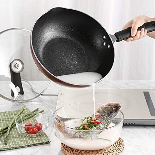 DUDDP Poêle Cuisine Poêle à frire poêle anti-adhésive poêle à steak poêle à frire une poêle à frire peut être recouverte sans cuisinière à gaz à gaz à foyer ouvert universel 28cm