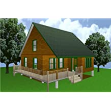 28x28 Cabin W/loft Plans Package, Blueprints, Material List