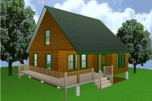 28x28 cabin w loft plans package blueprints for Easy cabin designs
