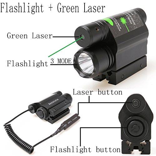 360 Tactical Combo 3 Mode Cree LED Flashlight + Green Laser Sight Tactical Flashlight And Laser 2 in 1 Combo light