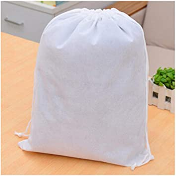 Waterproof Non-woven Shoe Clothes Storage Bag Drawstring Travel Wash Pouch Bags