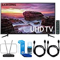Samsung UN58MU6100 - 58-inch Smart MU6100 Series LED 4K UHD TV w/ Wi-Fi + TV Cut The Cord Bundle Includes, Durable HDTV & FM Antenna, 2x 6ft. High Speed HDMI Cable & Screen Cleaner for LED TVs