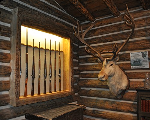 Man Cave / - Hunter / Hunting Moose Head - Gun Rack 8 x 10 GLOSSY Photo Picture