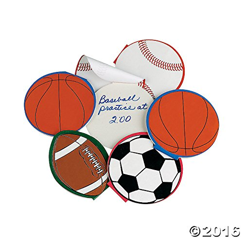Sport Ball Notepads - Package of 24