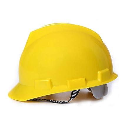 Casco de construcción-Duro Sin ventilación Sombrero de seguridad Equipo de protección personal Casco ajustable