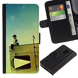 JackGot ( Disegno RV Kid ) Samsung Galaxy S5 V SM-G900 la tarjeta de Crédito Slots PU Funda de cuero Monedero caso cubierta de piel