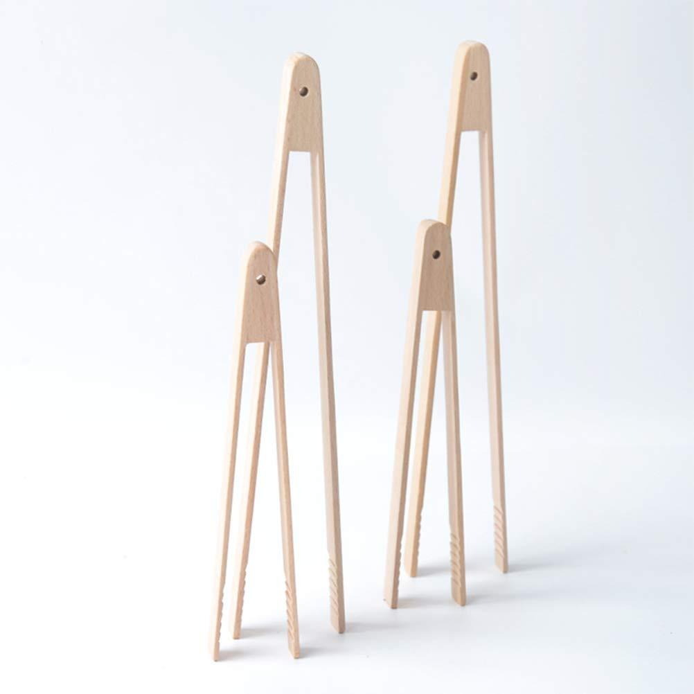 20/cm /pinzas de cocina barbacoa bamb/ú para cocinar barbacoa Hornear Asar Besto nzon 4/Pcs Pinzas Pinzas para servir/