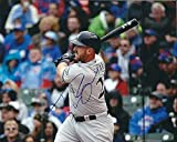 : Signed Travis Shaw 8x10 Milwaukee Brewers Photo - Authentic Autograph
