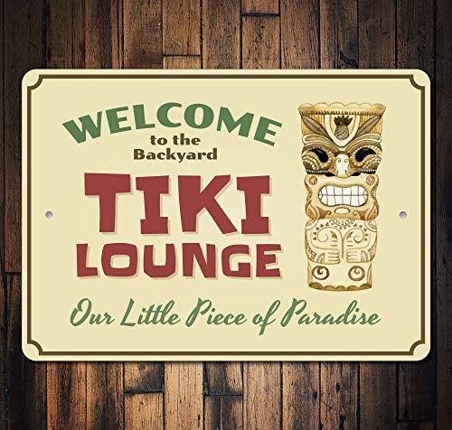 - Welcome Tiki Bar Sign Tiki Lounge Decor Tiki Man Sign Tiki Man Decor Tiki Lounge Sign Beach Tiki Bar Decor Quality Metal 8