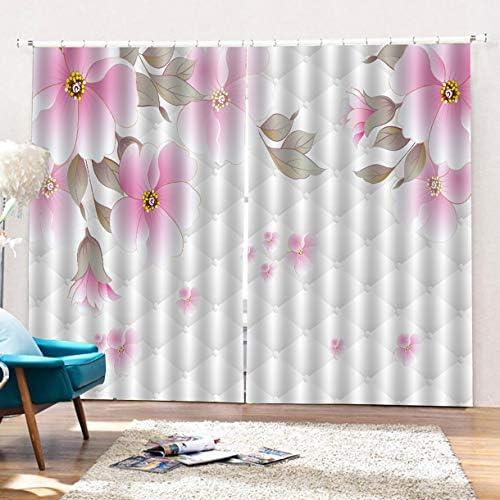 QinKingstore リビングルームの寝室の窓のカーテンのための170 * 200cmのカーテンによって印刷されるバルコニーの日陰