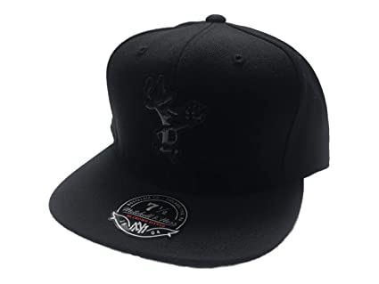 3a69f971 Image Unavailable. Image not available for. Color: Mitchell & Ness  Milwaukee Bucks NBA Black Foil Fitted Flat Bill Hat ...