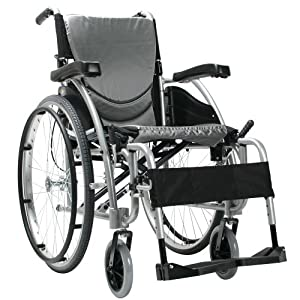 Karman Ergonomic Wheelchair in 20″ Seat and Quick Release Axles, Pearl Silver Frame