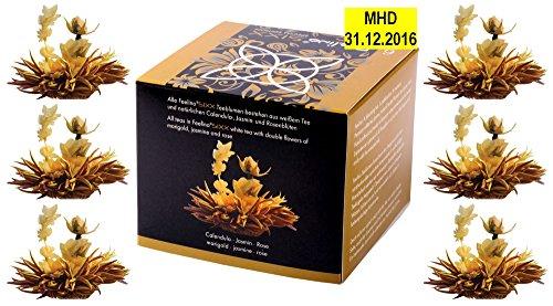 Feelino Edle 6er-Box Weißtee-Teeblumen mit je