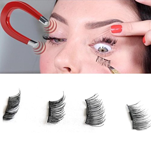Mirror's Edge Cosplay Costume (Staron 1 Pair 4pcs Magnetic False Eye Lashes, 3D Reusable Fake Eyelashes Easy To Use Magnet Eyelashes Extension Lash (Black))