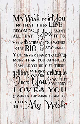 MosesMat41 Senior 2019 My Wish for You Rascal Flatts Song Wood Sign Wood Plaque Wall Art Dorm Room Teenager College from MosesMat41