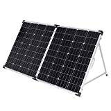 DOKIO Solar Panel 150W 12v Monocrystalline Portable Folding, for RV Cabin Tent Caravan