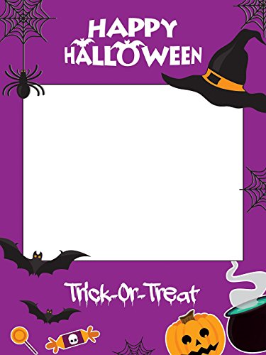 Large custom Halloween photo booth frame- Sizes 36x24, 48x36; Trick-or-Treat, Halloween Photobooth, Halloween photo props, Halloween party decorations, Halloween Frames