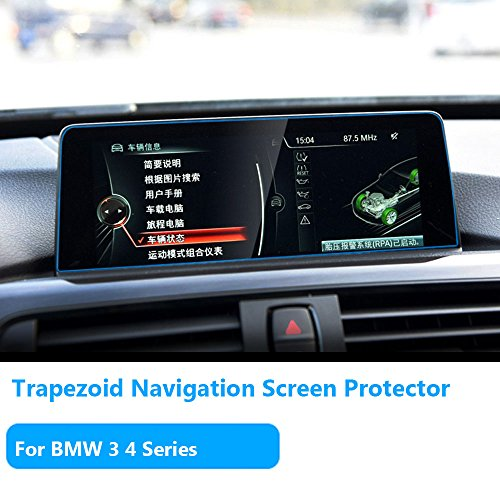 For BMW 3 4 Series Navigation Display Screen Protector Films,TTCR-II Anti-Explosion Touch Screen Protector[0.3mm,9H Hardness] ,Tempered Glass Console LCD Screen Protector[8.8