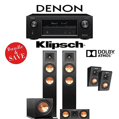 Denon-AVR-X3400H-72-Channel-Full-4K-Ultra-HD-Network-AV-Receiver-Klipsch-RP-250F-Klipsch-RP-250C-Klipsch-RP-140SA-Klipsch-R-112SW-312-Ch-Dolby-Atmos-Home-Theater-Package