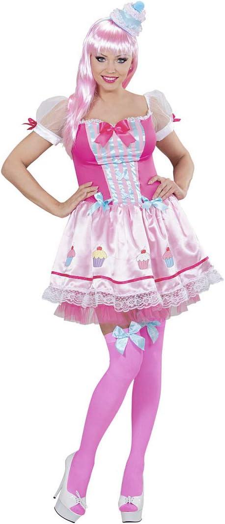 NET TOYS Maravilloso Disfraz de Cupcake para Mujer - Rosa Fucsia ...
