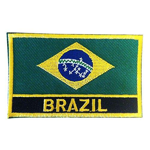 Brazilian Iron-On/Sew-On Flag Patch - Oficial Brasileiro Bandeira Remendo by Backwoods Barnaby (Brazilian Iron-On w/ Words, 2