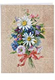 Jumbo Mother's Day Card: Flower Press With Envelope (Extra Large Version: 8.5'' x 11'') J6454BMDG