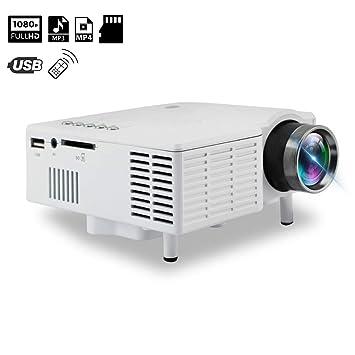 XH Proyector Mini Pantalla de Proyección Soporte 1080P Inteligente ...